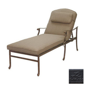 Darlee Santa Barbara Cast Aluminum Patio Chaise Lounge 201010-33-AB BUNDLE
