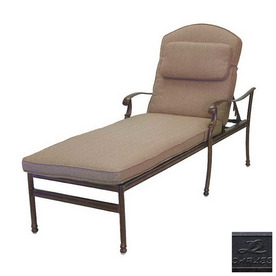 Darlee Florence Cast Aluminum Patio Chaise Lounge 201020-33-AB BUNDLE