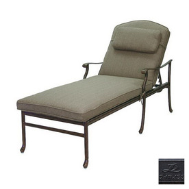 Darlee Sedona Cast Aluminum Patio Chaise Lounge 201030-33-AB BUNDLE