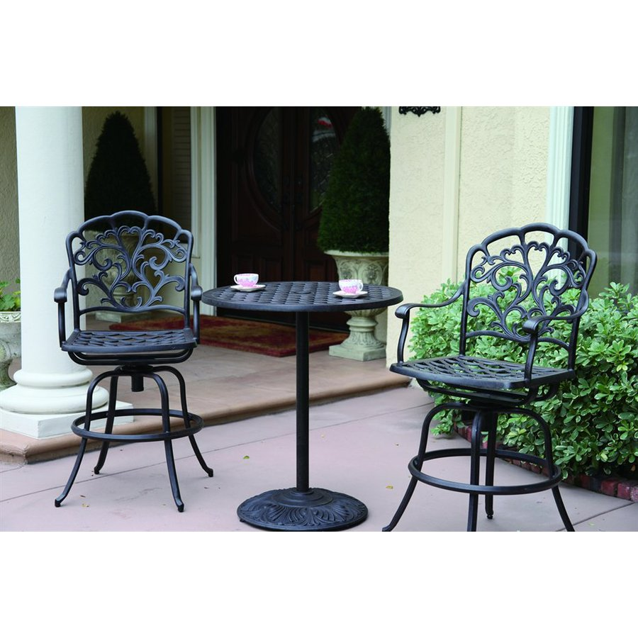 piece catalina cast aluminum patio bar height set at