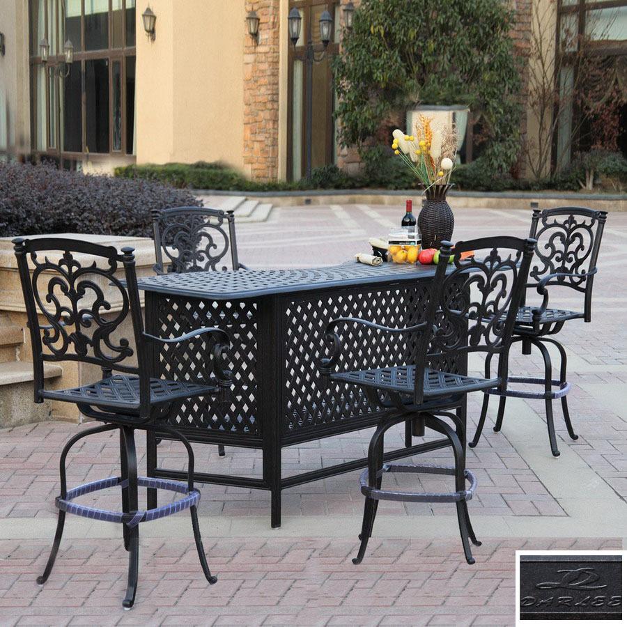 piece santa barbara cast aluminum patio bar height set at