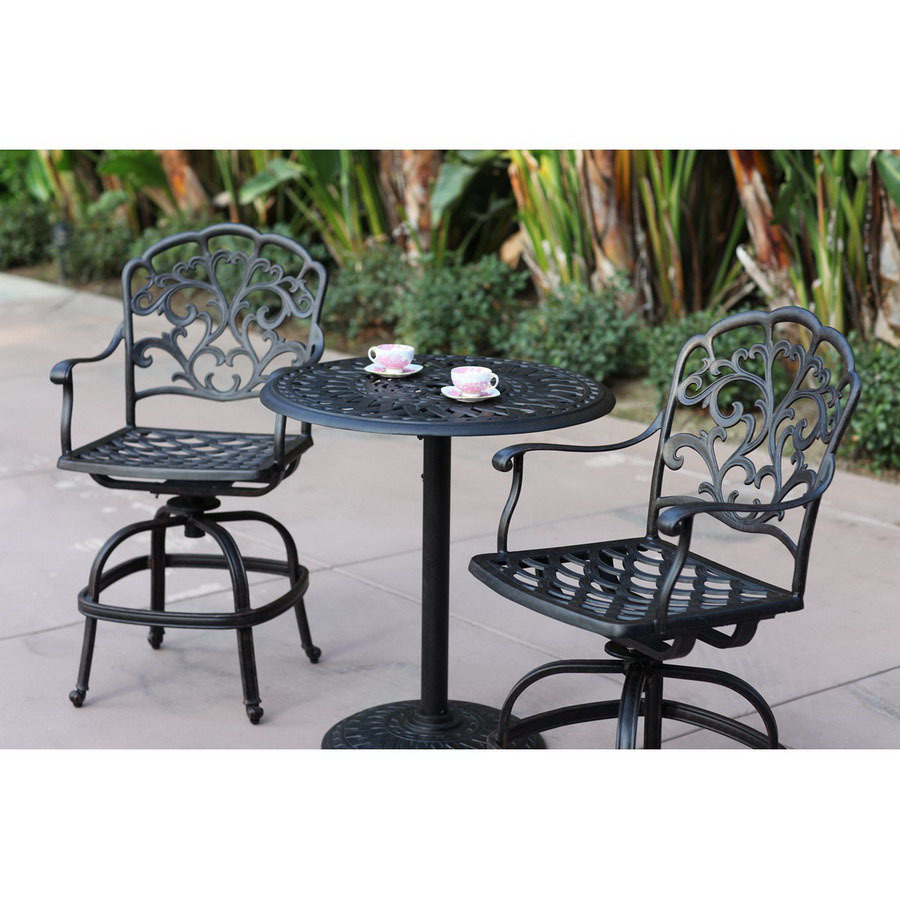 shop darlee 3 piece catalina cushioned cast aluminum patio