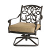 Darlee Santa Monica Antique Bronze Outdoor Rocking Chair