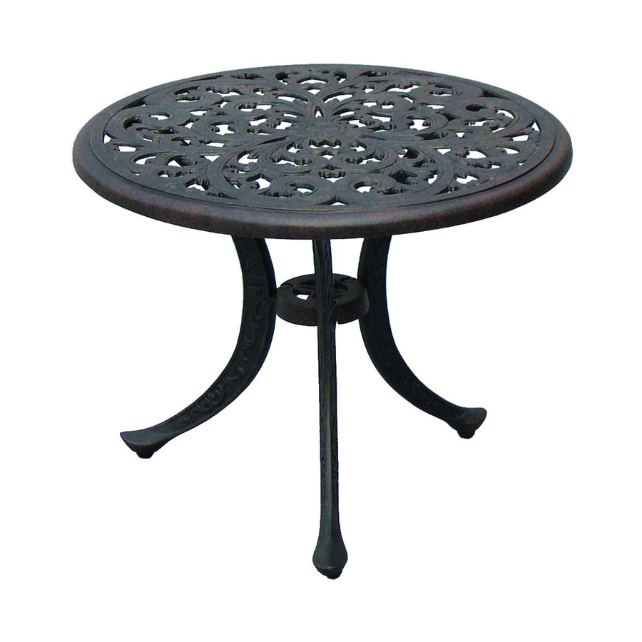 Shop Darlee Series 80 21-in x 21-in Antique Bronze Cast Aluminum Round Patio End Table at Lowes.com