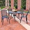 Crosley Furniture Sedona 5-Piece Charcoal Black Aluminum Dining Patio Dining Set