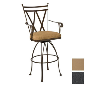 Shop Cascadia Berkshire Wrought Iron Swivel Patio Bar Height Chair At