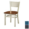 Regal Seating Set of 2 Steel Black Dining Chairs