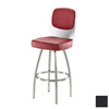 Trica Calvin Brushed Steel 27-in Bar Stool
