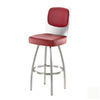 Trica Calvin Brushed Steel 31-in Bar Stool