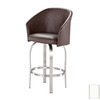 Trica Tiramisu Brushed Steel 27.75-in Bar Stool