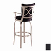 Trica Tuscany II Brushed Steel 25.75-in Counter Stool