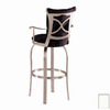 Trica Tuscany II Brushed Steel 29.75-in Bar Stool