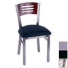 Holland Steel Frame Series Brushed Stainless Dining Chair