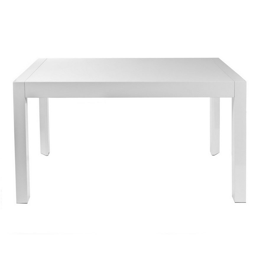 Eurostyle Adara White Lacquer Rectangular Dining Table At
