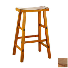 Shop Homelegance Saddleback Oak 29 In Bar Stool At Lowes Com