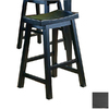 Homelegance Saddleback Black Sand-Through 24-in Counter Stool