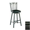 Pastel Furniture Laguna Matte Black 30-in Bar Stool