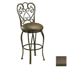 Shop Pastel Furniture Magnolia Autumn Rust 30 In Bar Stool
