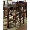 Somerton Home Furnishings Rhythm Medium Brown Walnut 25-in Counter Stool