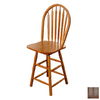 TMS Furniture Arrowback Oak 24-in Counter Stool