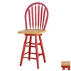 TMS Furniture Arrowback Red 24-in Counter Stool