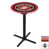 Holland United States Marine Corps Seal Black Wrinkle Round Dining Table