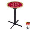 Holland Florida State Black Wrinkle Round Dining Table