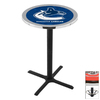Holland Vancouver Canucks Black Wrinkle Round Dining Table