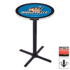 Holland Grand Valley State University Black Wrinkle Round Dining Table