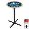 Holland Notre Dame Black Wrinkle Round Dining Table
