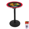 Holland Chicago Blackhawks Chrome Round Dining Table