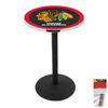 Holland Chicago Blackhawks Stainless Steel Round Dining Table