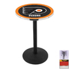 Holland Philadelphia Flyers Chrome Round Dining Table