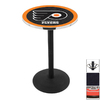 Holland Philadelphia Flyers Black Wrinkle Round Dining Table