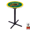 Holland North Dakota State University Black Wrinkle Round Dining Table
