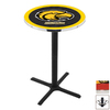 Holland University of Southern Mississippi Black Wrinkle Round Dining Table