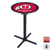 Holland University of Utah Black Wrinkle Round Dining Table