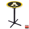 Holland Appalachian State University Black Wrinkle Round Dining Table