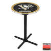 Holland Pittsburgh Penguins Black Wrinkle Round Dining Table
