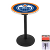 Holland Edmonton Oilers Chrome Round Dining Table