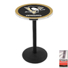 Holland Pittsburgh Penguins Stainless Steel Round Dining Table