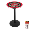 Holland United States Marine Corps Seal Stainless Steel Round Dining Table