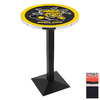 Holland Wichita State University Black Wrinkle Round Dining Table