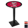 Holland University of Wisconsin Black Wrinkle Round Dining Table
