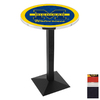 Holland University of Michigan Black Wrinkle Round Dining Table