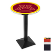 Holland University of Minnesota Black Wrinkle Round Dining Table