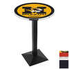 Holland University of Missouri Black Wrinkle Round Dining Table