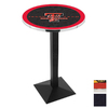 Holland Texas Tech University Black Wrinkle Round Dining Table