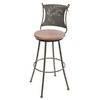 Stone County Ironworks Bull Moose Natural Black 25-in Counter Stool