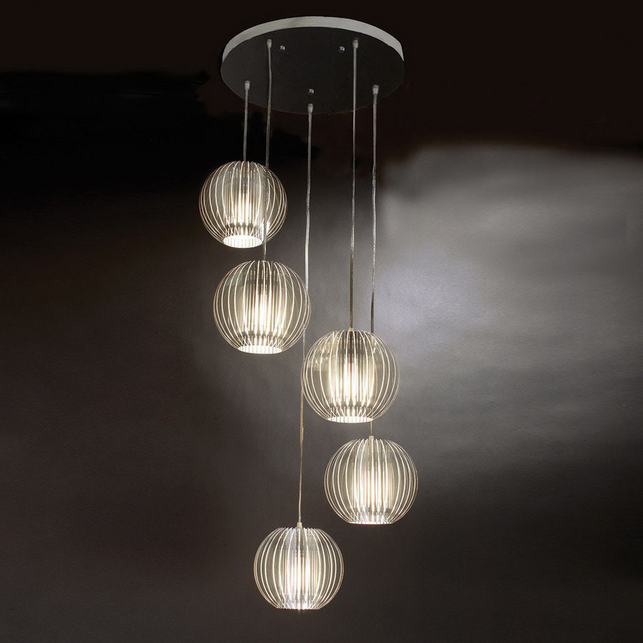 shop trend lighting 80 in satin silver multi